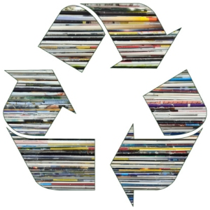 Recycle symbol- paper