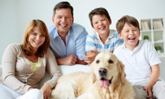 family with dog 500x300
